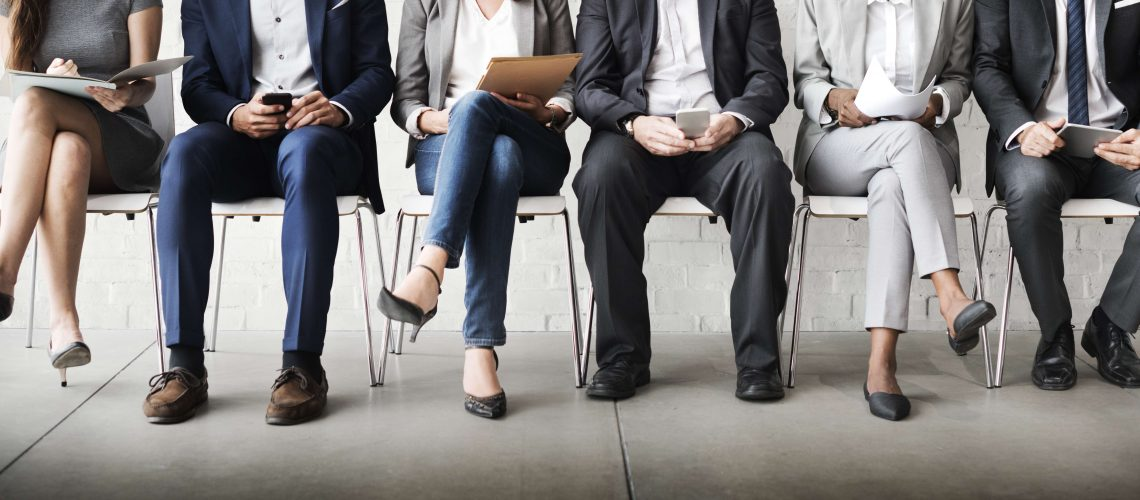 waiting room different employees candidates recruitment