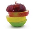 layered apple