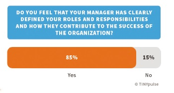 Do you feel that your manager has clearly defined your roles and responsibilities